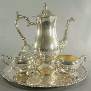 Wm Rogers Silverplate Coffee Tea Set 3-Pc Set
